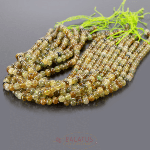 A-Grade Granat Kugel glanz grün ca. 6mm, 1 Strang