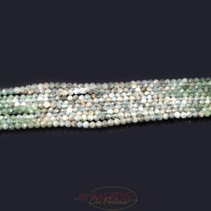Ombre Kyanit grün Kugeln facettiert 3 mm 1 Strang