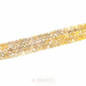 Ombre Tansanit gelb Kugeln facettiert 3,8 mm 1 Strang