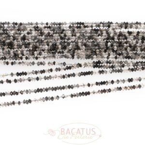 Turmalinquarz Untertasse facettiert 1×2 mm 1 Strang