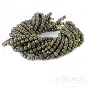 Sfera di giada nefrite verde brillante circa 6 – 8 mm, 1 capo