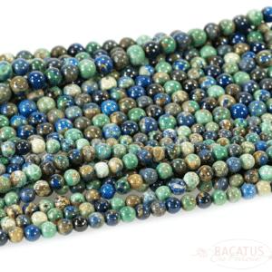 Azurit Kugel glanz grün blau ca. 6 – 8mm, 1 Strang