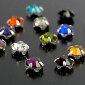 """Perle di cristallo """"Roses Viva"""" della selezione di colori Preciosa 4mm"""