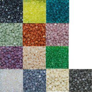Pinch Beads Doppelpyramiden 7 x 5 mm Farbauswahl, 50 Stück