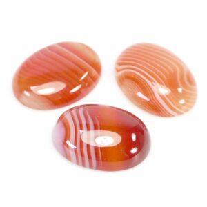 Fascia agata arancione cabochon ovale 18 e 25 mm, 1 pezzo