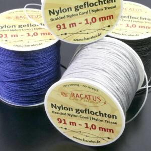 Braided nylon cord Ø 1 mm 91m (€ 0.04 / m)