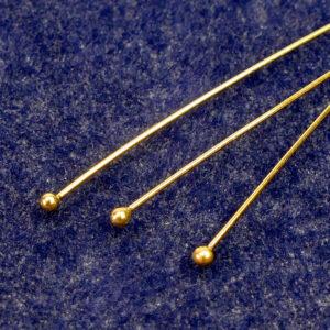 Nietstifte mit Kugel 925 Silber *vergoldet* Ø 65 mm