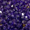 Glas Doppelkegel 3 mm Farbauswahl, 20 Stück - purple velvet
