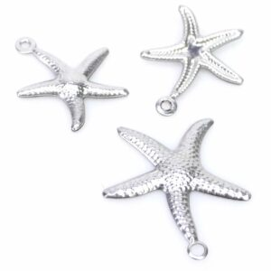 Pendentif étoile de mer en acier inoxydable