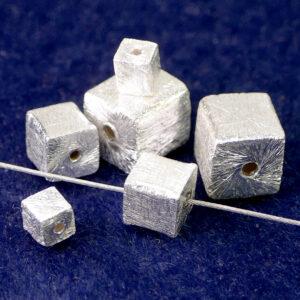 Cubo argento 925 spazzolato Ø 4 – 8 mm