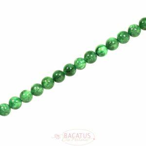Sfera di giada verde brillante, circa 6-10 mm, 1 capo
