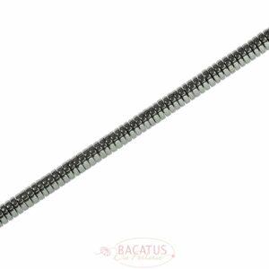 Dischi ematite lucidi 8x2mm, 1 filo