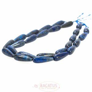 Lapis lazuli drops glossy blue approx. 10x30mm, 1 strand