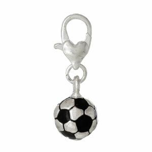 Bracelet à breloques pendentif en métal football 27×10 mm