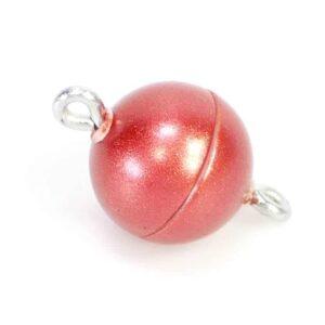 Chiusura magnetica plastica rosso opaco * qualità superiore *