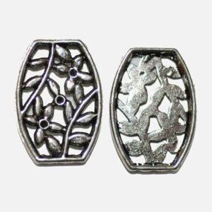 Distanziatore per fiori con perline in metallo 26×18 mm, 2 pezzi