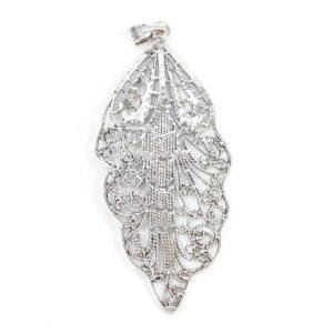 Metal pendant leaf large 139×55 mm