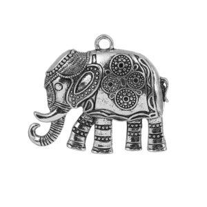 Ciondolo in metallo elefante 59×48 mm