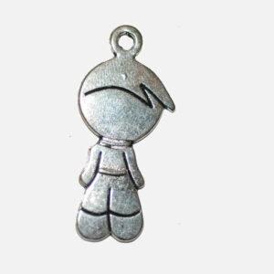 Pendentifs en métal garçon 40×18 mm, 2 pièces