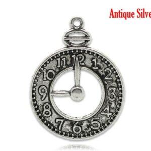 Orologio con ciondolo in metallo 32×24 mm