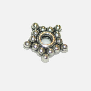Metal bead spacer star dots 8 mm, 10 pieces
