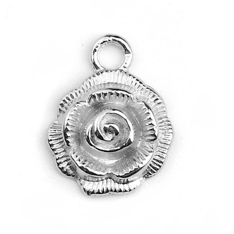 Metallanhänger Rose