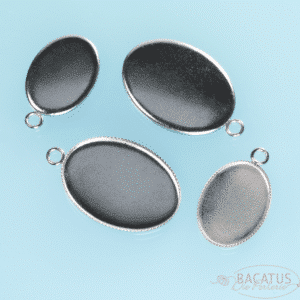 Setting pendant for cabochons stainless steel oval 18 and 25 mm