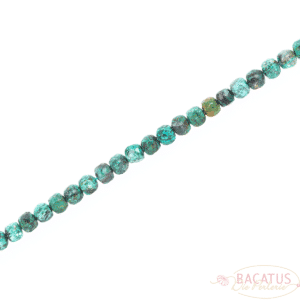 Chrysocolla cube faceted 6×6 mm, 1 strand