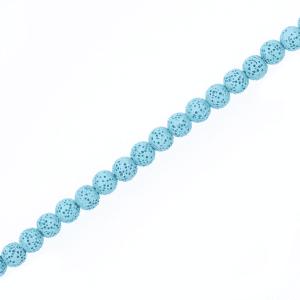 Sponge Lava Kulgen blau 8 mm, 1 Strang