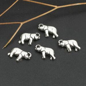 Metallperle Elefant 18×11 mm, 4 Stück