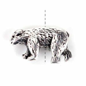 Metallperle Bär 15×10 mm, 4 Stück