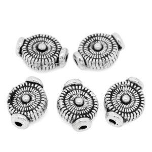 Metallperle Schnecke 10×7,5 mm, 6 Stück