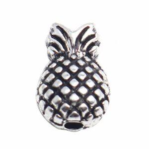 Perle métal ananas 13×9 mm, 4 pièces