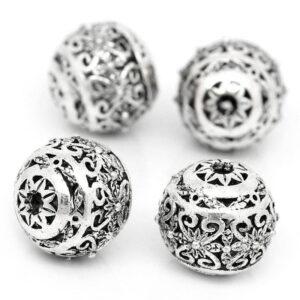 Boule en métal motif oriental 11 mm