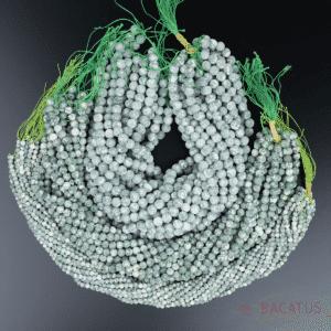 Sfera di diaspro spot verde opaco 4 – 8 mm, 1 capo