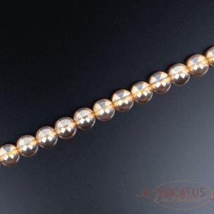 Bergkristall Kugel glanz orange transparent ca. 6 und 8mm, 1 Strang