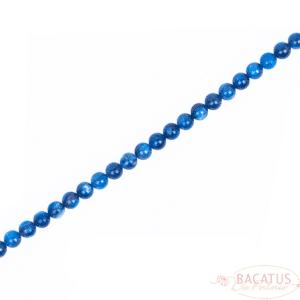 Kyanit Quarz Kugel glanz blau transparent ca. 8mm, 1 Strang