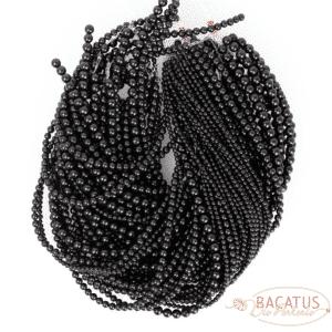 Sfera color ambra nero lucido circa 4-8 mm, 1 capo