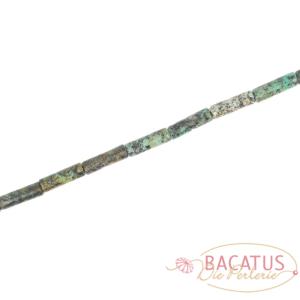 Tubi turchesi africani lucidi circa 4x13mm, 1 capo