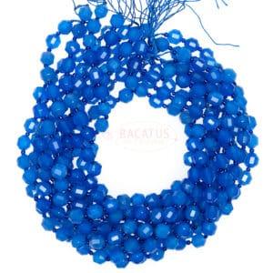 Achat Fancy facettiert blau 9x10mm, 1 Strang