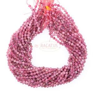 Rubellite Bicono rosa sfaccettato circa 6x6mm, 1 capo