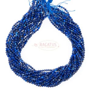 Lapis lazuli bicone faceted blue approx 4x4mm, 1 strand
