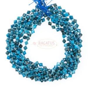 Apatite Bicono sfaccettato sfumature di blu circa 8x8mm, 1 capo