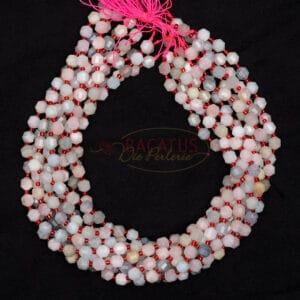 Selezione taglie Morganite fantasia sfaccettata rosa-multicolore, 1 capo
